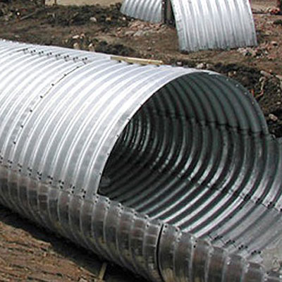 Elliptical Galvanized Metal Steel Corrugated Culvert Pipe