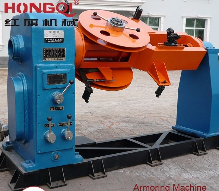 steel wire cable armored stranding machine for armoring processing