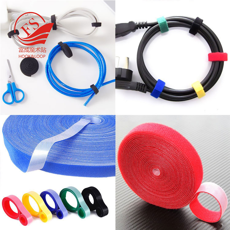Reusable 16mm*5m double side male and female side hook and loop tape