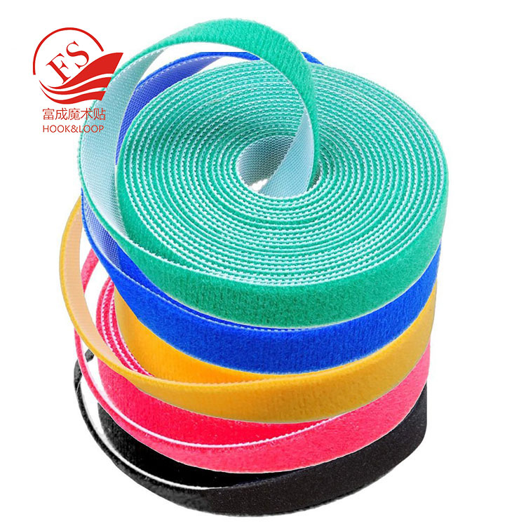 Pantone colors custom double sided klettband hook loop roll