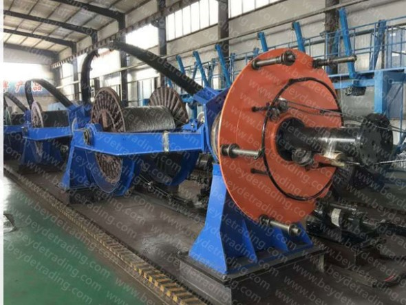 multi-functional skip / bow type cable wire stranding machine