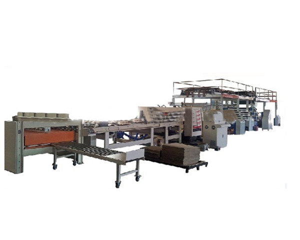 Double layer /2 ply corrugated cardboard production line