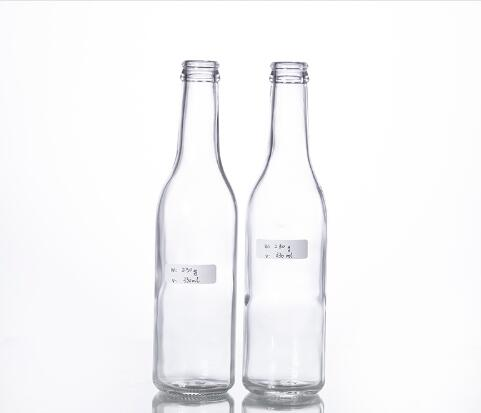 330ml clear beer bottle with crown cap
