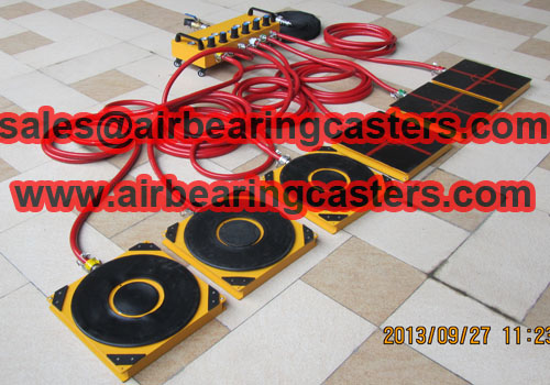 Air casters capacity from 10 Tons to 60 Tons