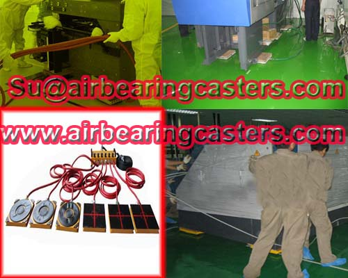 Air rigging systems have no damage of the floor with low friction
