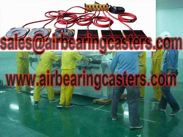 Air bearing casters power source is compressed air