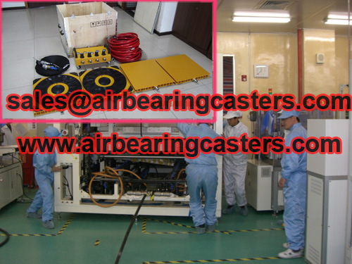 Air caster machine moving equipment details