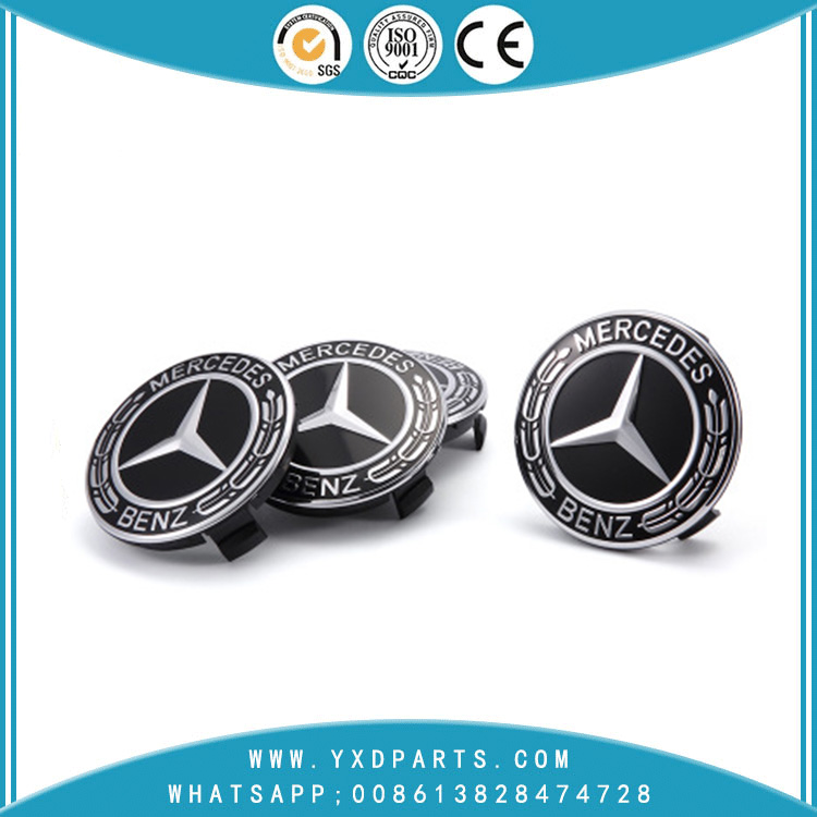 Car logo emblem 75MM wheel center cap hub for benz