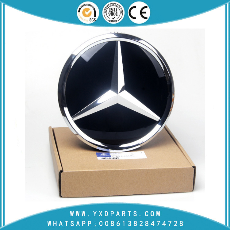 Mercedes-Benz large standard GLK260ML300GL400ML63 Front net modified 3D mirror crystal standard solid Mercedes-Benz logo 185MM