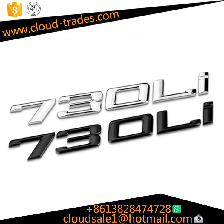 Applicable BMW 7 Series 730li 740li 750li 760li Car Logo Rear Label Digital Labeling