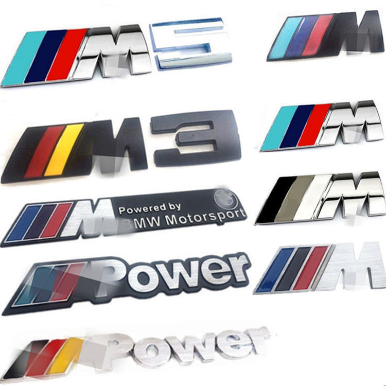 BMW car stickers M logo 5 series M3 M5 X1M X3M X5M X6M rear tail mark standard conversion displacement standard