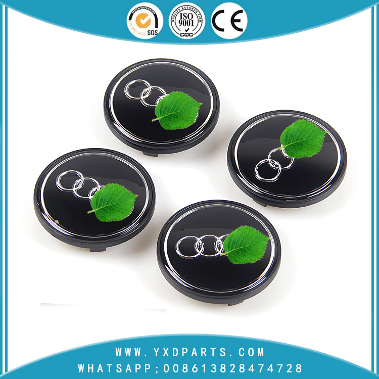 Wholesale Audi Hubcap Audi 60MM Gray Cover Audi Car Wheels Refit Plastic Cover Car Logo