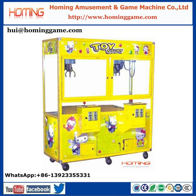 Coin operated arcade games toys vending machines crane claw machine for sale indoor