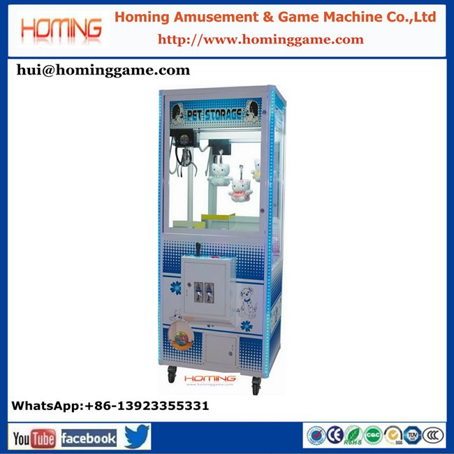 Hot sale coin operated vending plush toy game machine mini toy crane claw game machine