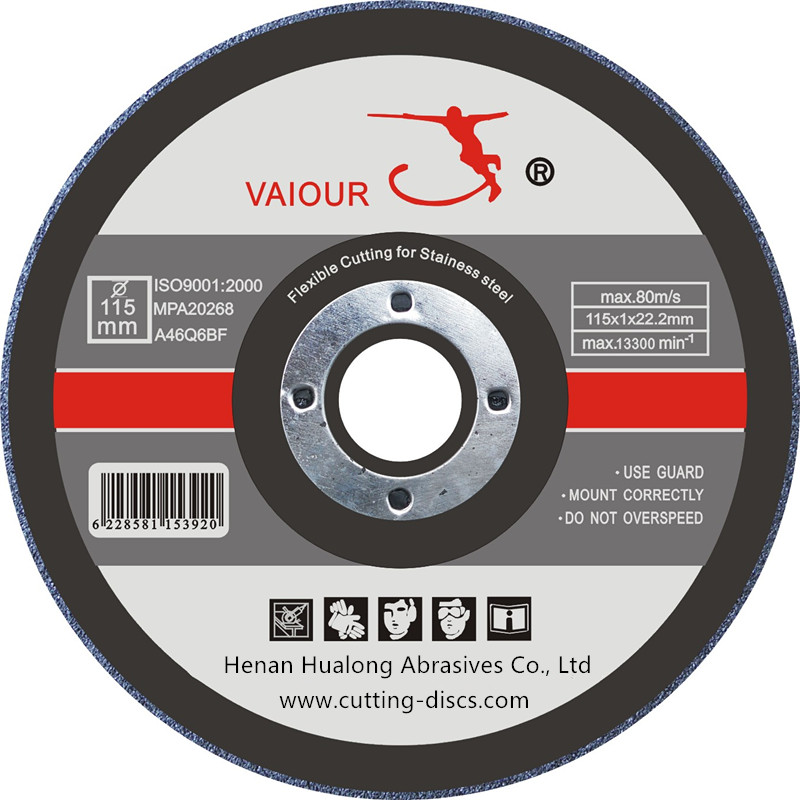 115x1x22.2mm cutting disc for metal &stainless steel