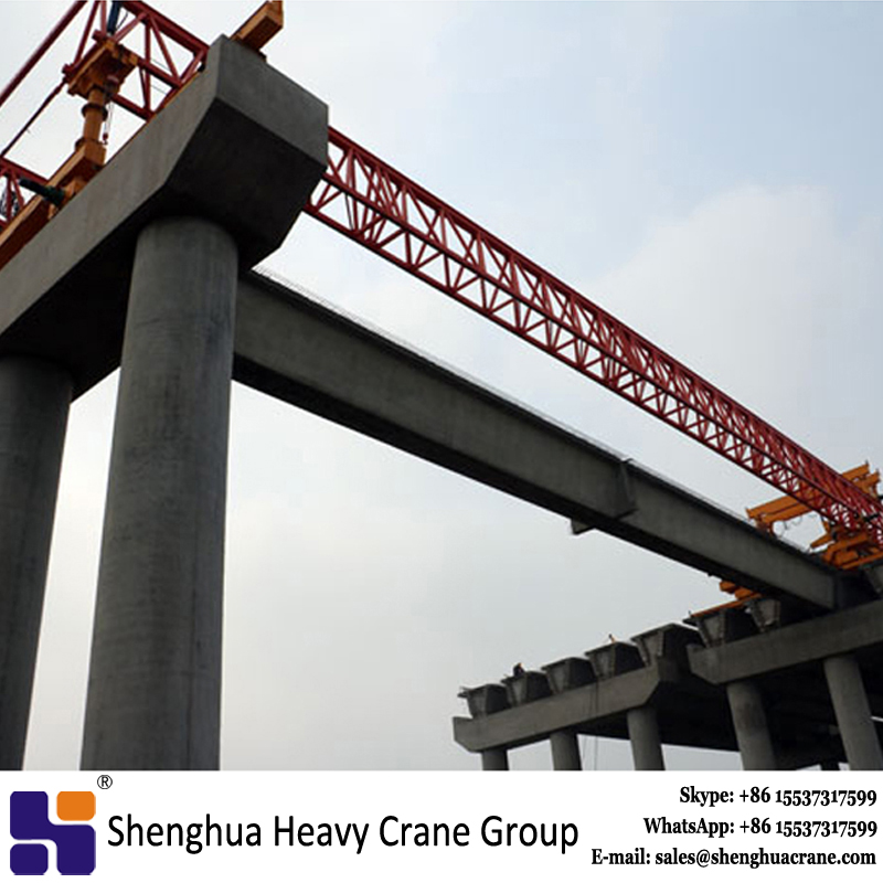 300T truss type beam launcher for highspeed railway