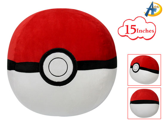Pokemon Poké Ball anime plush pillow