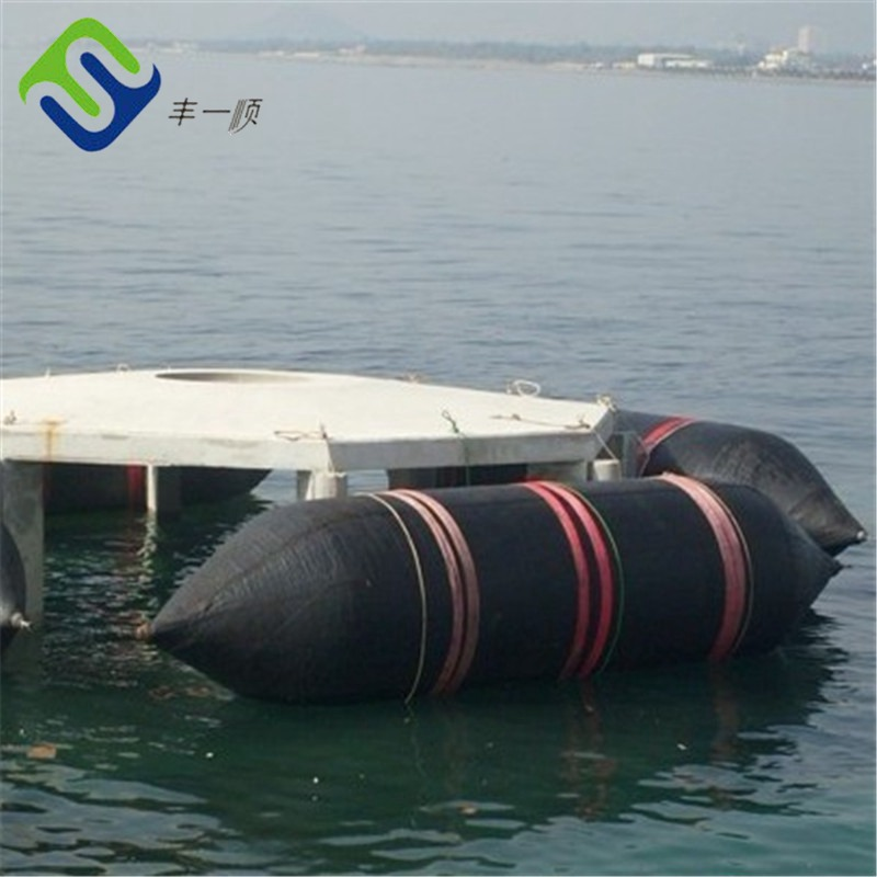 Ship rubber airbag for launching and landing
