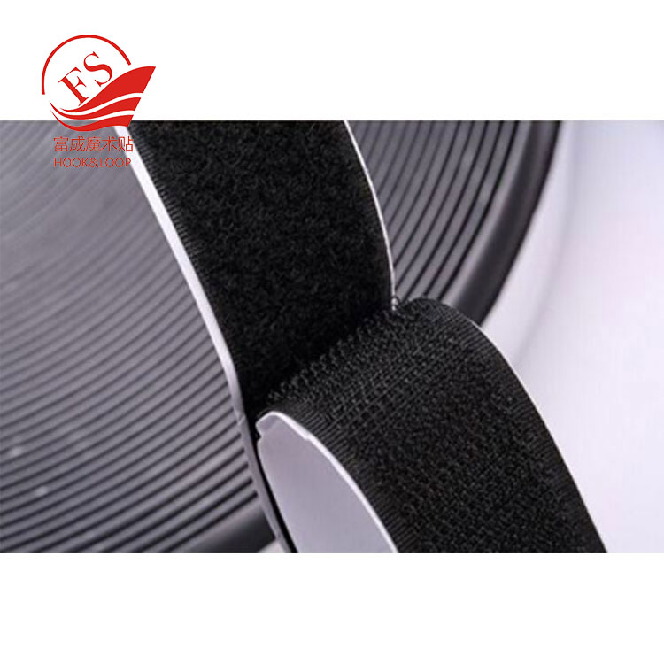 all kinds of diameter black adhesive hook loop dot with extensive use