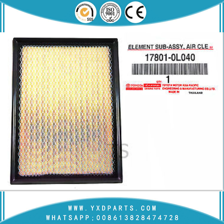 Chinese Manufacturer Efficiency Car Auto Parts Engine Air Filter 17801-0L040