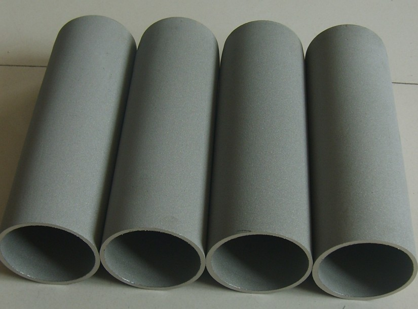 Metal powder sintered filter element