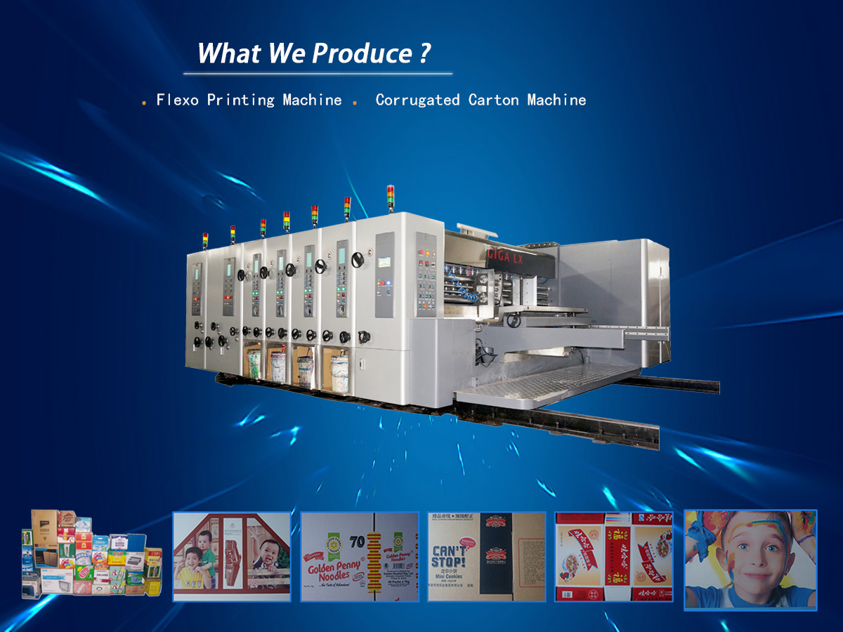 corrugated cardboard machine flexo printing machine