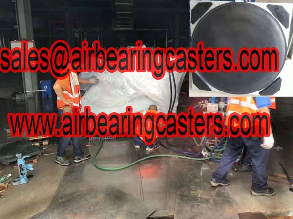 Air bearing casters with four air modular