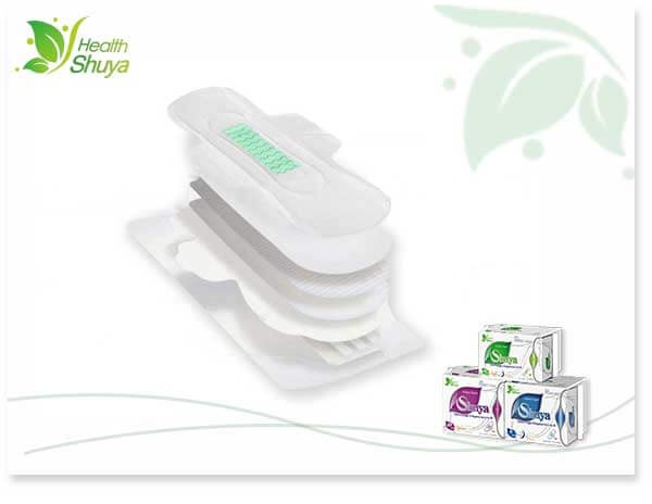 Low-cost, but high-grade anion sanitary pads
