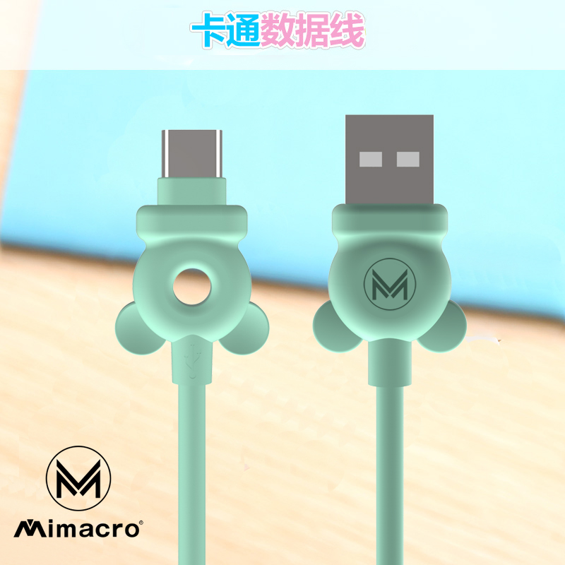 MIMACR0 cartoon Mickey plastic 1 meter Android Apple Huawei USB DATA CABLE