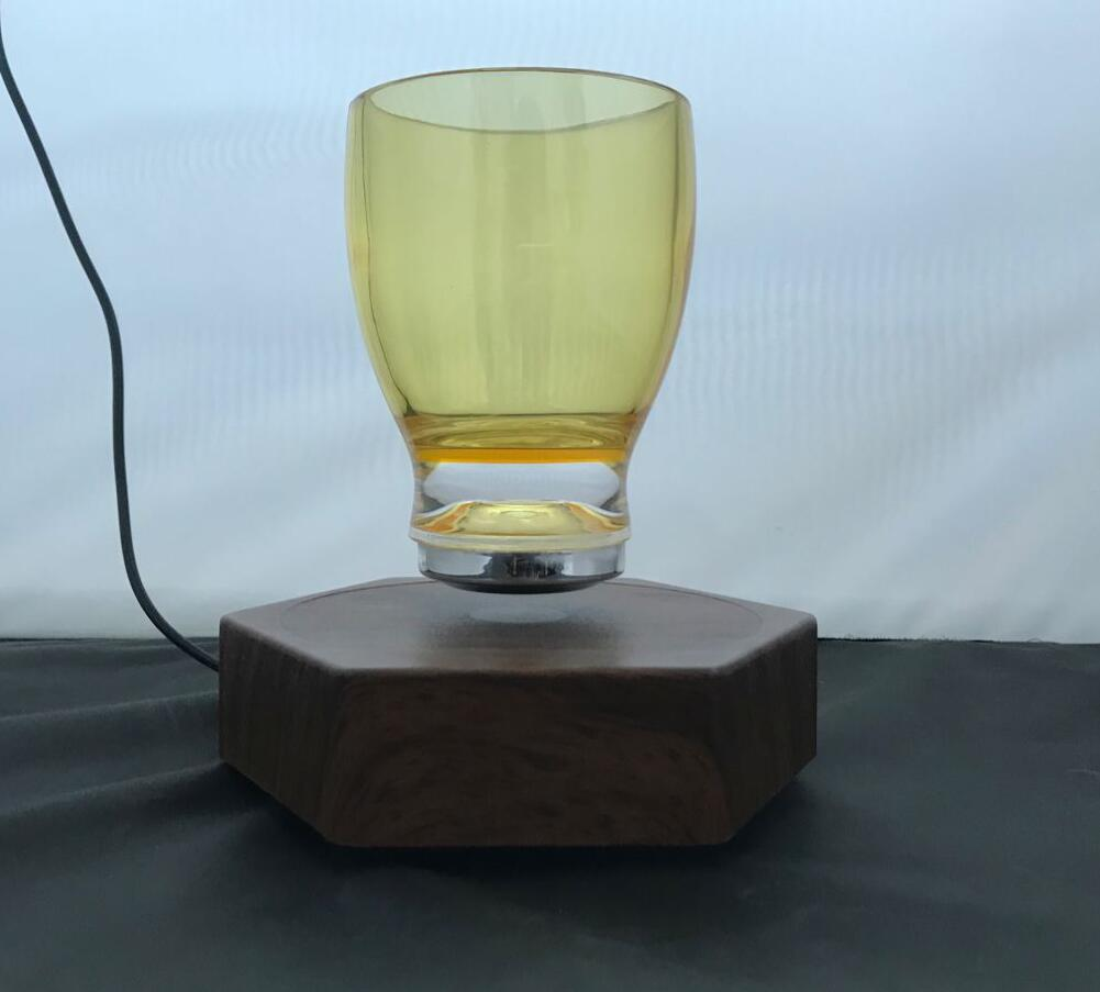 magnetic floating levitate bottom cup