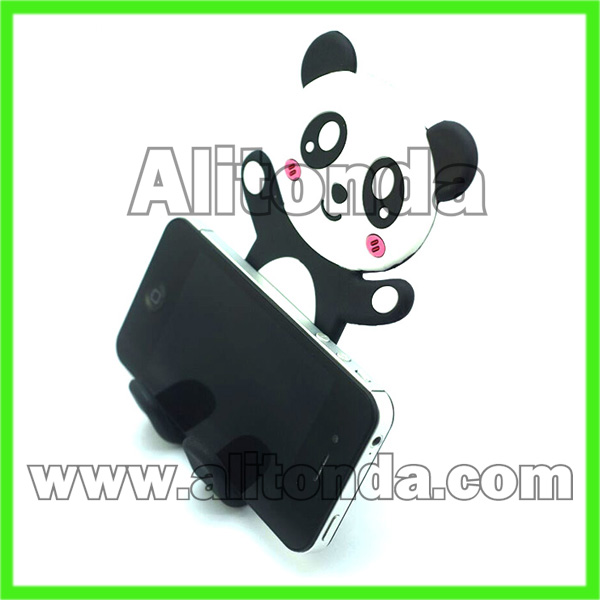 PVC cartoon cute phone holder custom