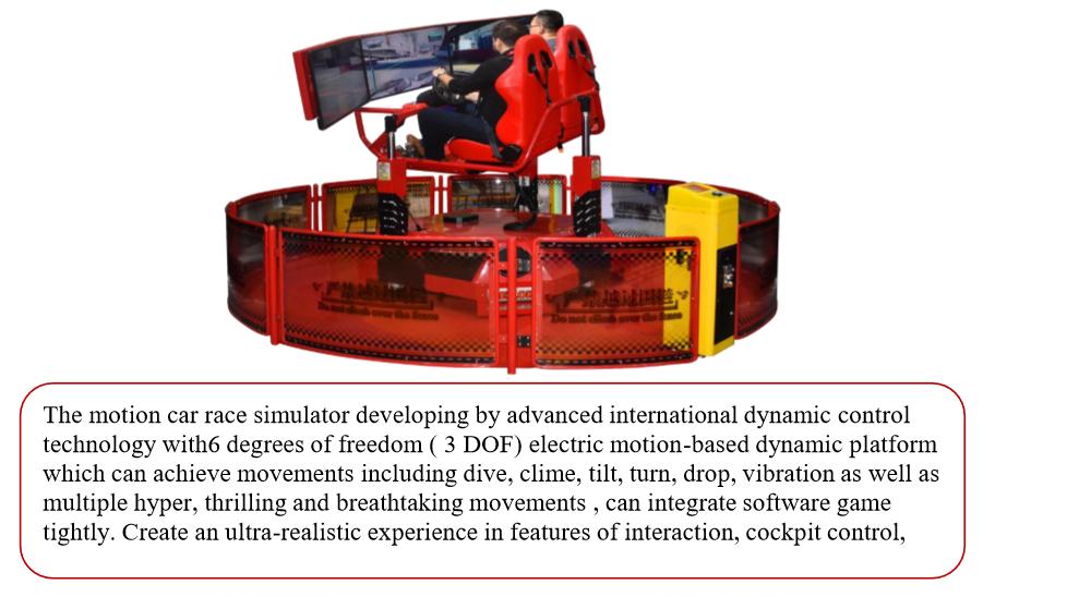 360 degree racing car game machine 9d Vr Cinema Virtual