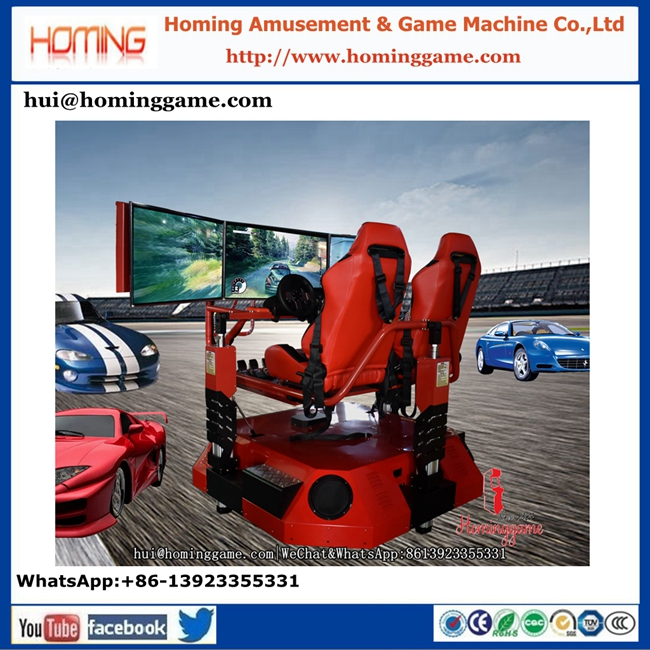 hot selling driving simulator 9d vr racing car simulator 360 degree rotate 9d vr