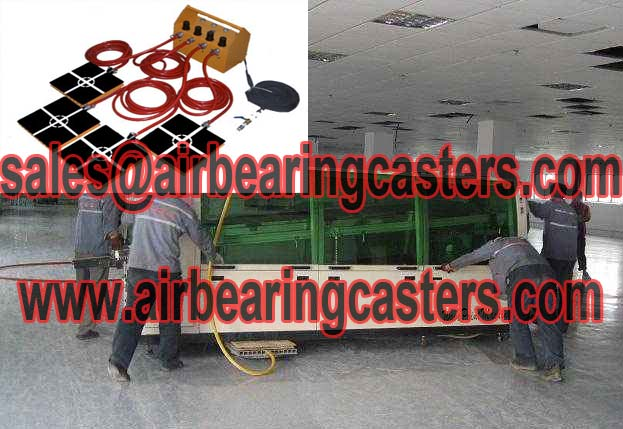 Air caster moving system with usage and applications
