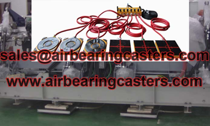 Air casters shortens the time for the different moving and handling