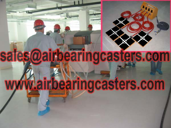 Air casters available for varying floor surface conditions