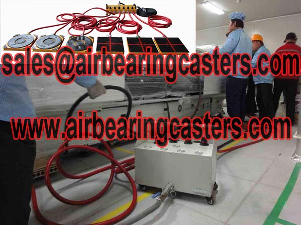 Air bearing transporters powered by air bearings
