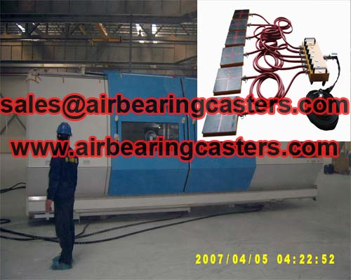 Air film transporters also named air movers