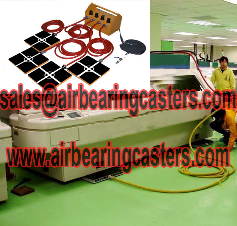 Air bearings casters applications