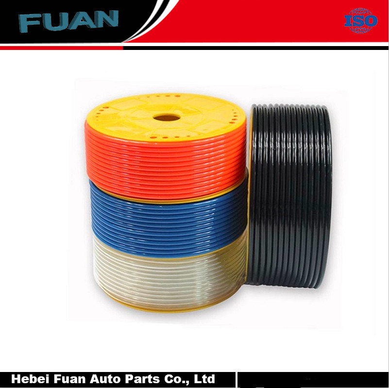 Best Flexible 6x4mm Black Polyurethane Air Tubing PU Pneumatic Hose