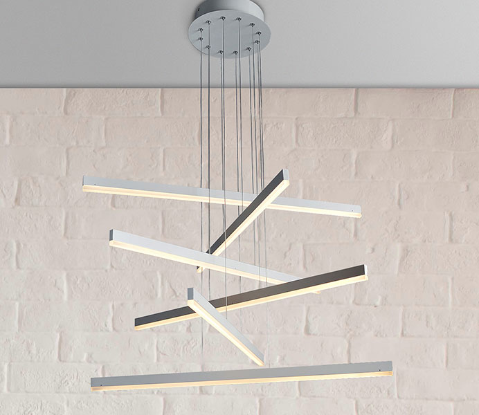 Elegant Acrylic LED Hanging Lighting with 6 Lights