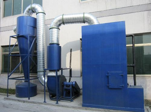 cyclone dust collector for power plant