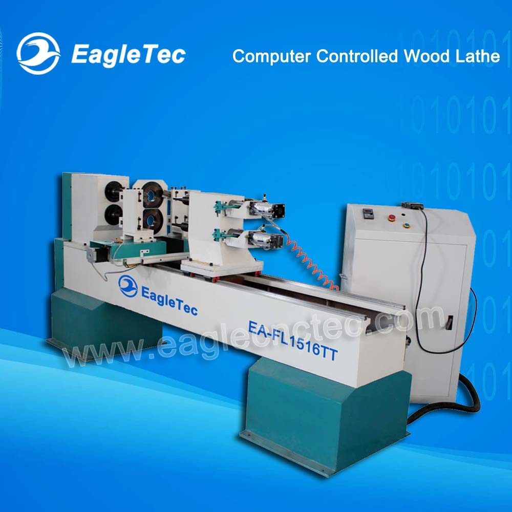 CNC Wood Lathe Machine For Handrail and Wood Stair Spindles Making