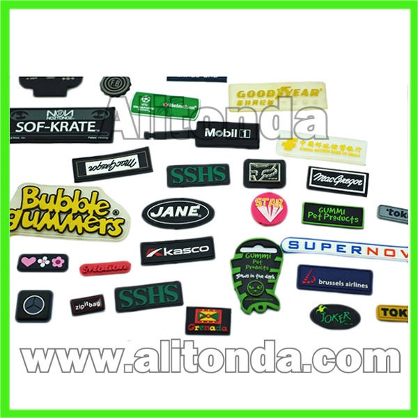 PVC badges and patches for apparel bags