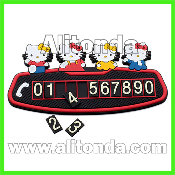 Silicone car temporary stop boards cards car accessories custom
