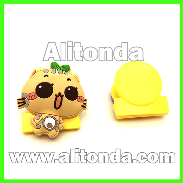 PVC cute cartoon animal file clips paper clips used in office bank school