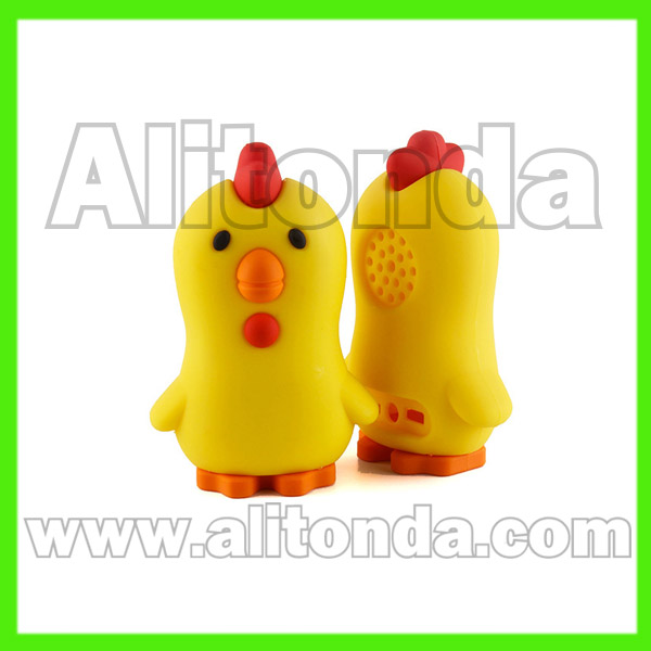 PVC cartoon animal duck wireless bluetooth speakers custom for promotional gifts