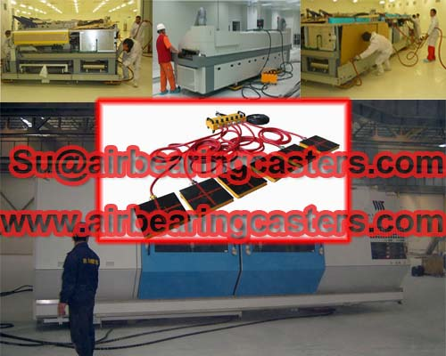 Air bearing moversCan be serviced without removing the load