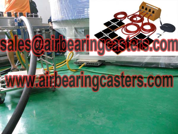 Air bearing casters operates very simply