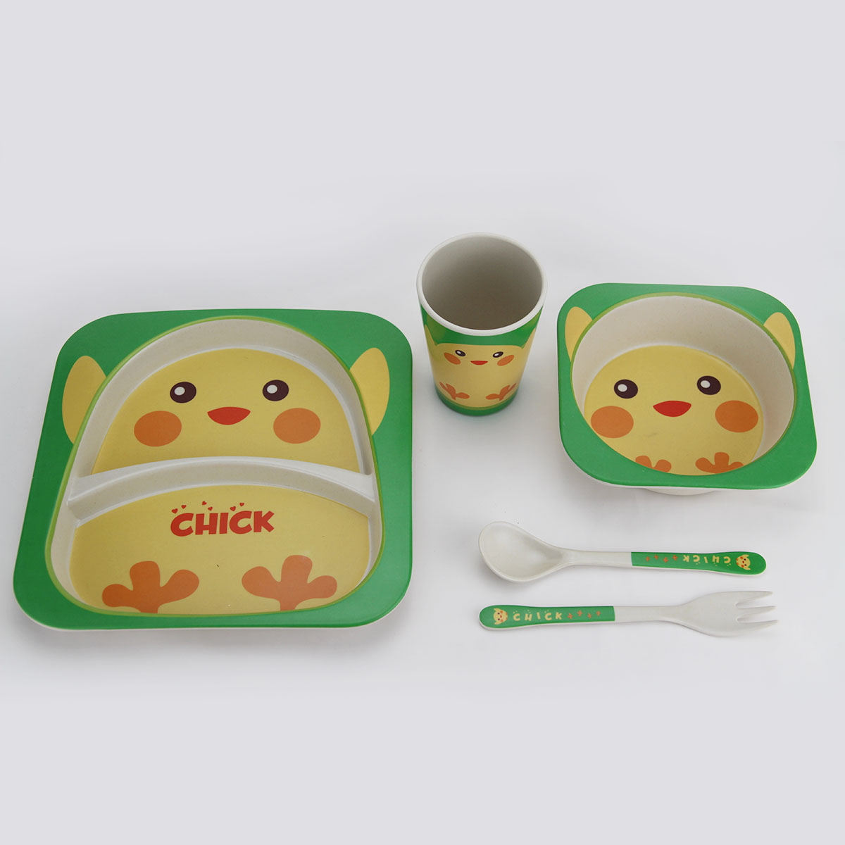 Kids Dinnerware Set Bamboo Fiber Dinnerware